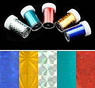 5PCS Laser Foil Nail Decorations Starry Nail Stickers (150x4x0.1cm)