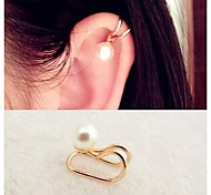 Fashion Pearl  Alloy Ear Cuff (Gold) (1 Pc)  (1 Pc)