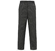 Black Stripes Elastics Chef Pants