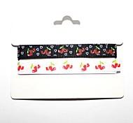 3/8 pollici modello di amore ciliegia nastro costola stampa ribbon- 1 yarde per rullo (due colori una carta)