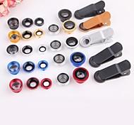 5 in 1 Wide Angle + Macro + 2X teleconverter + polarizer Kit Fisheye Mobile Phone Lens