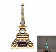 Paris Tower DIY Colored Drawing and Automatic Solar Light Sensation Toy