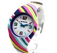 siliconestrap rodada mostrador branco movimento de quartzo japonês relógio fw922e das mulheres