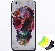 Rose Skull Pattern Hard Case and Phone Holder for iPhone 6