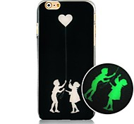 Boy And Girl Luminated Pattern Hard Back Case for iPhone 6