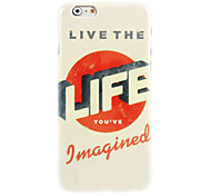 Life Pattern Hard Case for iPhone 6