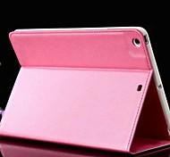 Le nouveau motif de grain croisée PU étuis en cuir pour iPad 2 (air couleurs assorties)