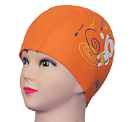 Youyou Kid's Cartoon Waterproof Ear Protection Wearable PU Swimming Cap