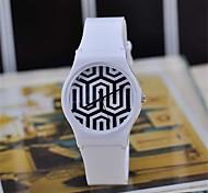 Women's  Magic Color Transparent Plastic Watch  Circular High Quality Japanese Watch Movement