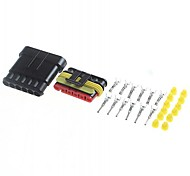 Car Connector 6 Pin/Way HID Waterproof Electrical Connector Kit (Housing+Terminal+grommet+Other)