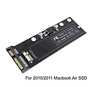pcba 12 + 6pin ssd hdd a 22pin Disco rigido SATA cartuccia per apple 2010 2011 macbook A1369 dell'aria A1370 ssd