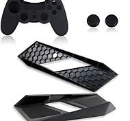 Durable Magic Vertical Stand Holder with Silicone case for Sony PS4 Playstation Console Gaming