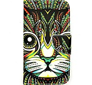 For LG Case Wallet / Card Holder / with Stand / Flip Case Full Body Case Cat Hard PU Leather LG