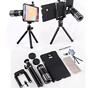 4X-12X Zoom Metal Shell Magnetic Telephoto Camera Lens+Tripod for Samsung Note 4