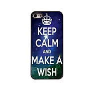 Keep Calm and Make A Wish Design Aluminum Case for iPhone 5/5S
