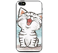 Happy Kitten Pattern Hard Case for iPhone 4/4S