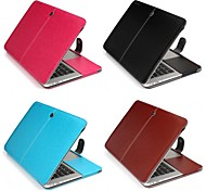 "Enkay Case for Macbook Air 13.3"" Business Solid Color PU Leather Material Protective PU Leather Case"