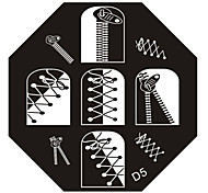 nail art carimbo de imagem carimbar placa modelo d série no.5