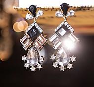 I FREE®Women's Casual Crystal Diamond-encrusted Hand-made Stud Earrings 1 pair