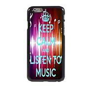 Listen To Music Design  Aluminum Case for iPhone 6