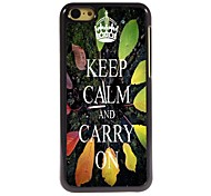 Keep Calm and Carry On Design  Aluminum Case for iPhone 5C