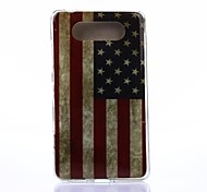 America Pattern TPU Soft Case for Nokia Lumia 820