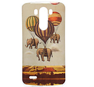 Elephant Pattern TPU Soft Case for LG G3