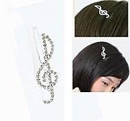 moda bonito notas strass hairpin