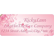 Personalized Gift Tags / Address Label Rose Petal Pattern Pink Film Paper