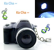 Cute LED Digital Camera Keychain Mini Flashlight with Shutter Sound and LED Light