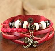 Bracelet Bracelets de tennis Bracelets d'amitié Bracelets Bracelets Vintage Bracelets en cuir Bracelets de rive Alliage Cuir BoisSoirée