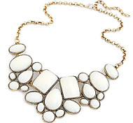 Women's Occident Fashion Colorful Geometric Metal Short Necklace