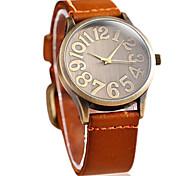 Women's Vintage Big Dial Leather Guartz Wrist Watch(Assorted Colors)