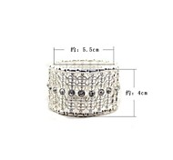 Silver Hollow Out Elastic Bracelet