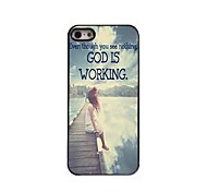 God is Working Design Aluminum Case for iPhone 4/4S