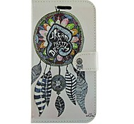 Ethnic Style Dream Bell PU Leather Full Body Wallet Protective Case with Stand for Samsung Galaxy S Advance I9070