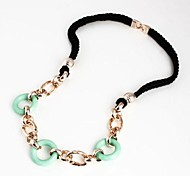 Fashion Resin And Rope Sweater Chain Necklaces Random Color
