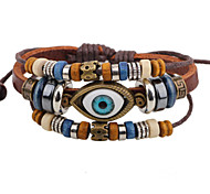 Fashionable Brown 80cm Round Leather Bracelets