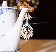I FREE®Women's Casual Crystal Diamond-encrusted Hand-made Drop Earrings 1 pair