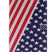la pleine boîtier de corps de conception de drapeau américain en cuir PU avec support et lecteur de carte pour iPad air