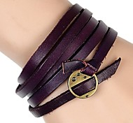 Europe, The United States And Africa Mainstream Punk Five Laps Leather Bracelet (Multicolor)