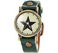 Women's Big Star Bronze Case PU Band Quartz Wristwatch (Assorted Colors)