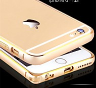 Aluminum Metal Frame Titanium Series Modern Metallic Bumper Case for iPhone 6 Plus(Assorted Colors)