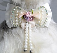 Cat / Dog Hair Accessories / Tie/Bow Tie / Hair Bow White Dog Clothes Spring/Fall Wedding / Cosplay