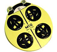 enchufe de extensión mariquita creativo mig con cable de alimentación enchufe de CA gb 2m colores surtidos