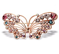 High-grade Diamond Crystal Butterfly Retro Brooch