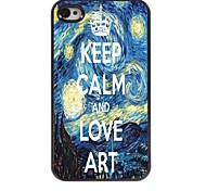 Keep Calm and Love Art Design  Aluminum Case for iPhone 4/4S