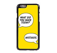 Make Mistakes Design  Aluminum Case for iPhone 6 Plus