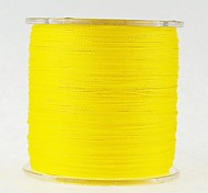 300M 100LB Super Strong Japan Multifilament PE 4 Strands Braided Wire Ocean Fishing Line Yellow Color