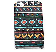 toophone® Joyland plastica grafica nera orizzontale Schema di accordo posteriore Case for iPhone 4 / 4s